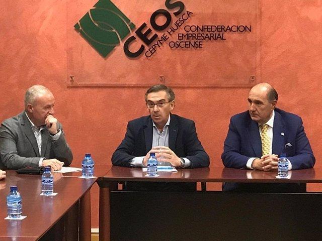 Beamonte se ha reunido hoy con miembros de CEOS CEPYME Huesca
