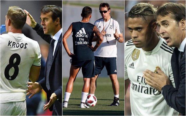 Jugadores del Real Madrid se despiden de Lopetegui
