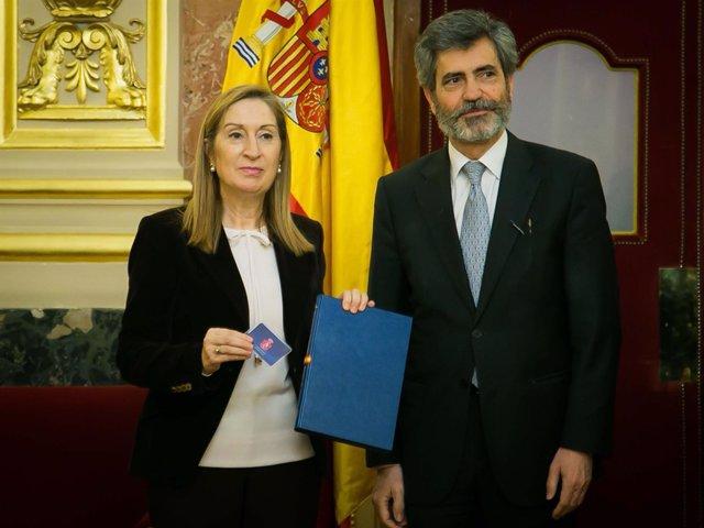 Ana Pastor y Carlos Lesmes
