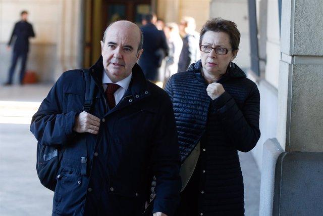Gaspar Zarrías llega a la sesión del jucio de los ERE