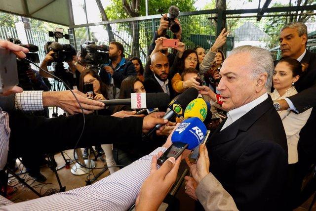 El presidente saliente de Brasil, Michel Temer