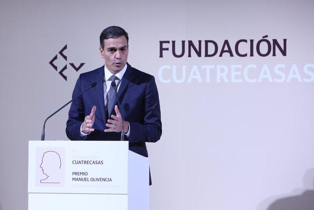 Pedro Sánchez interviene en la entrega del Premio Manuel Olivencia al Buen Gobie
