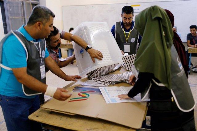 Recuento tras las elecciones parlamentarias en el Kurdistán iraquí