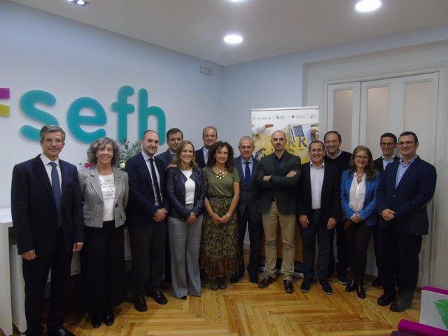 Representantes de la Sociedad Española de Farmacia Hospitalaria