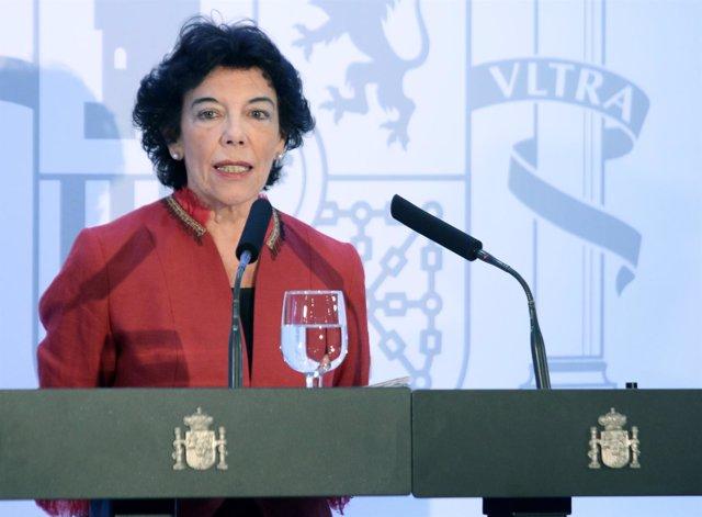 Rueda de prensa de la ministra Isabel Celá tras el Consejo de Ministros celebrad