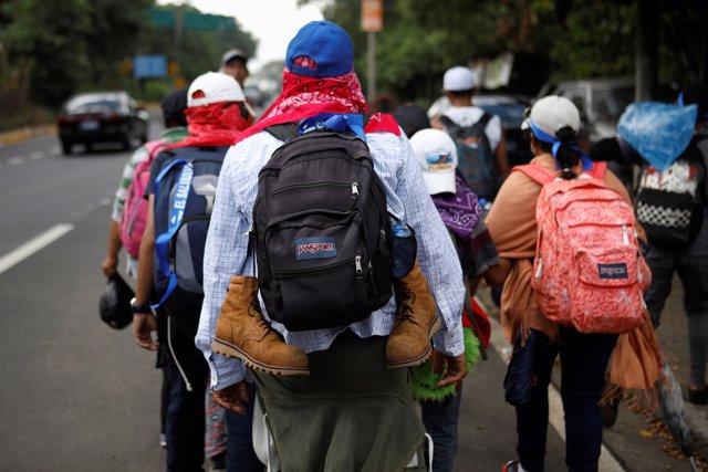 Migrantes salvadoreños rumbo a Estados Unidos