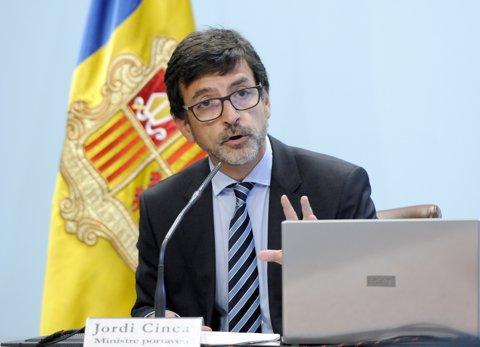 El ministre portaveu del Govern d'Andorra, Jordi Cinca