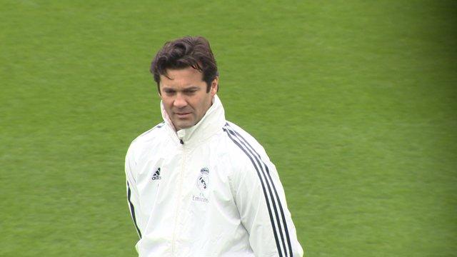 Primer entrenamiento de Santiago Solari, nuevo entrenador del Real Madrid