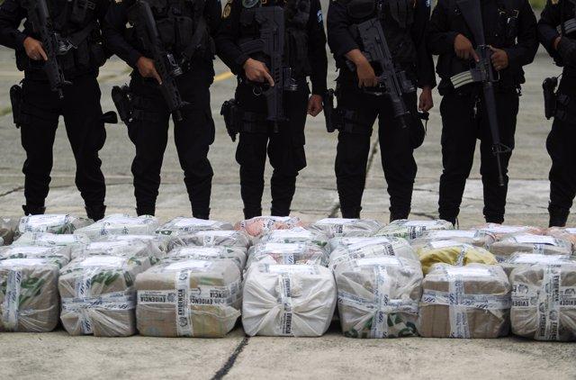 Droga incautada en Ciudad de Guatemala