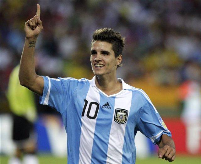 Delantero argentino Erik Lamela