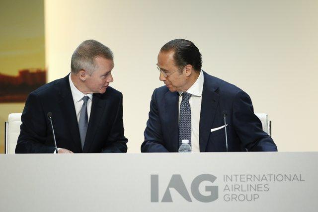 Walsh y Vázquez en la junta de accionistas de IAG de 2018