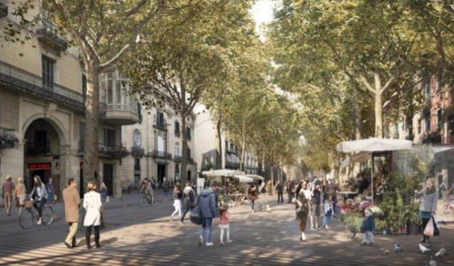 Futura transformación de La Rambla de Barcelona