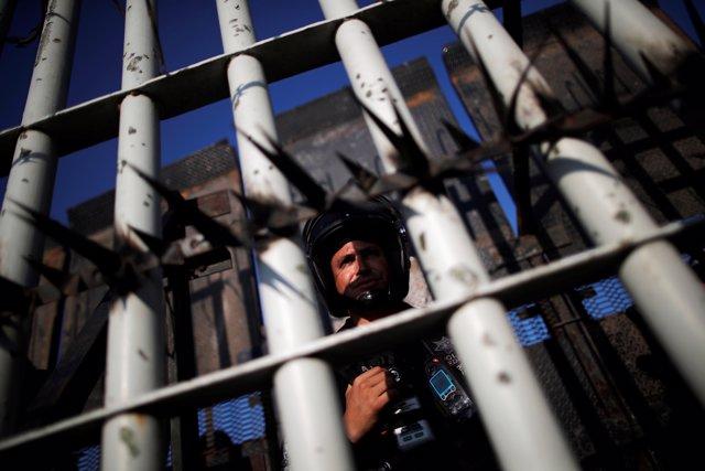 Despliegue policial en la frontera de México con Guatemala
