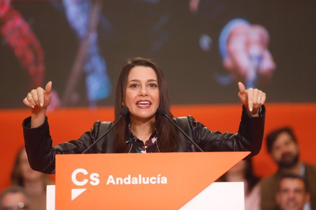 La portavoz de Ciudadanos (Cs), Inés Arrimadas, en Málaga