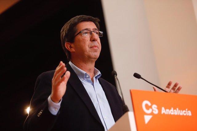 El candidato de Cs a la Presidencia de la Junta de Andalucía, Juan Marín