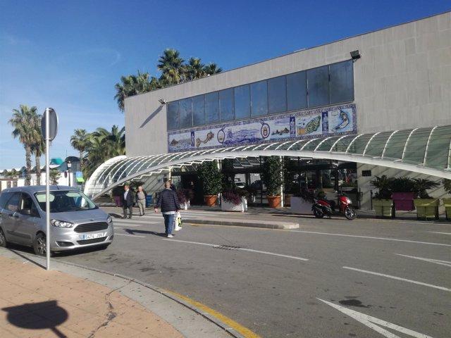 Exterior de la Estación Marítima de Ceuta