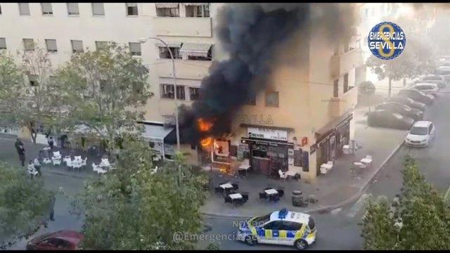 Incendio en un bar de Pino Montano