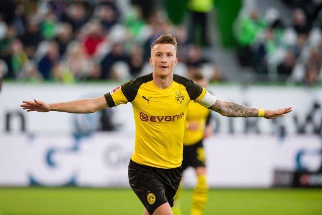 Marco Reus celebra un gol con el Borussia Dortmund