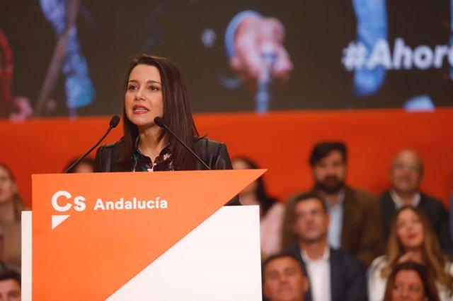 Inés Arrimadas, en un acto de Cs en Málaga