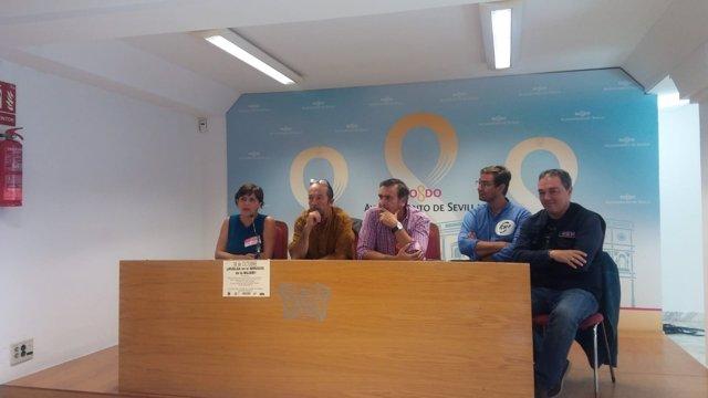Rueda de prensa de los sindicatos del Ayuntamiento de Sevilla