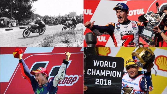 Campeones españoles Mundial motociclismo Nieto Lorenzo Márquez Martín