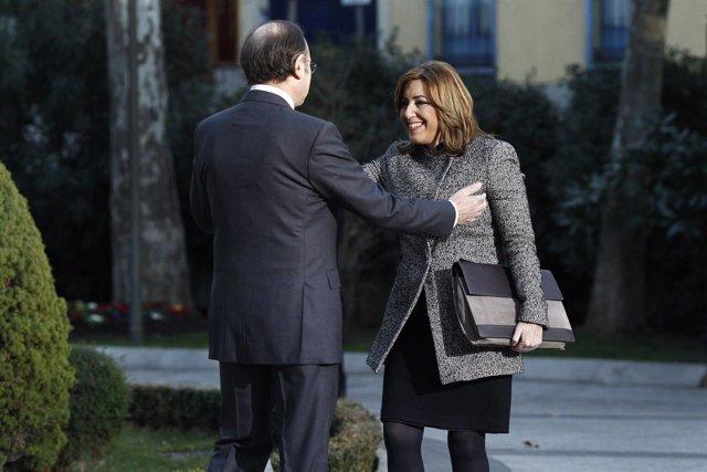 Pío García Escudero recibe a Susana Díaz en la Conferencia de Presidentes
