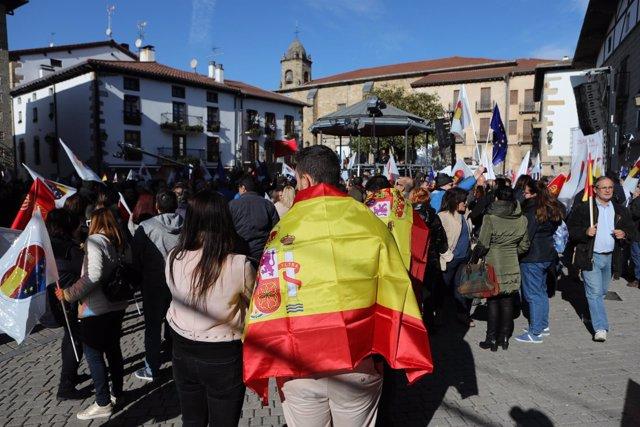Acto de la plataforma España Ciudadana en Alsasua.