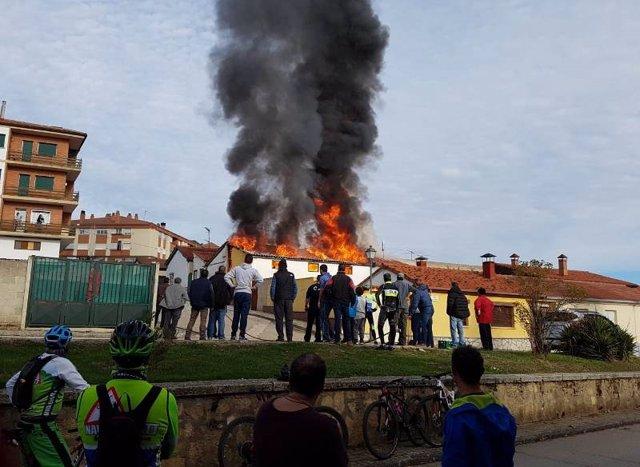 Soria.- Imagen del incendio