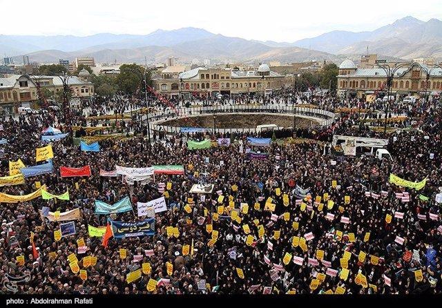 Manifestación en Teherán ante la antigua Embajada de EEUU