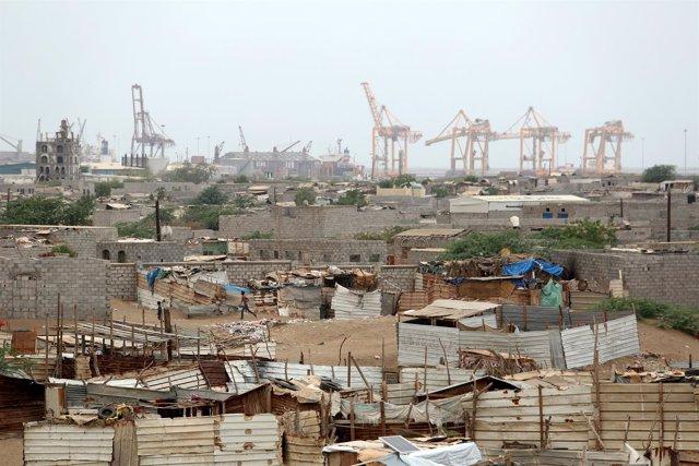 Ciudad de Hodeida, en Yemen