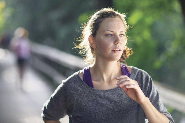 Deporte, correr, mujer, prueba, esfuerzo