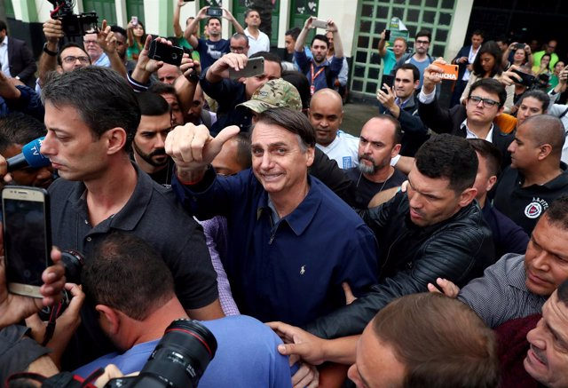 Jair Bolsonaro, far-right lawmaker and presidential candidate of the Social Libe