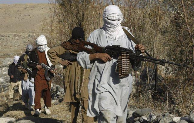 Milicianos en Nangarhar, Afganistán
