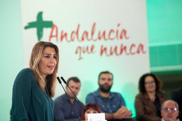 En Sevilla, la secretaria general del PSOE-A y presidenta de la Junta, Susana Dí