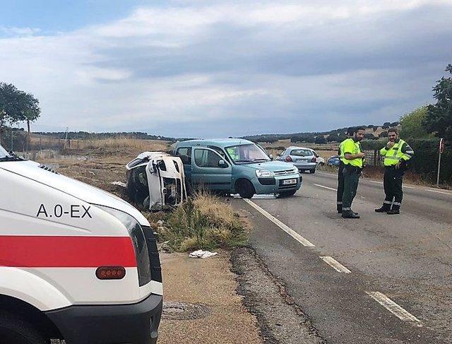 Accidente de tráfico en Badajoz