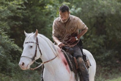 Así sale Rick Grimes (Andrew Lincoln) de The Walking Dead en el 9x05