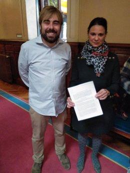 Daniel Ripa y Diana Sáncjhez presentan la proposición para suprimir aforamientos