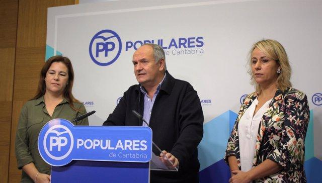 Senadores de PP por Cantabria: Esther Merino, Javier Fernández y Blanca Martínez