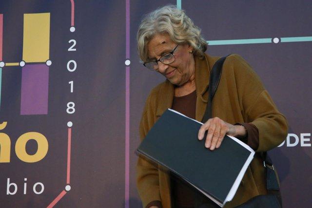 ADA COLAU Y MANUELA CARMENA OFRECEN EN UNA CHARLA EN MADRID