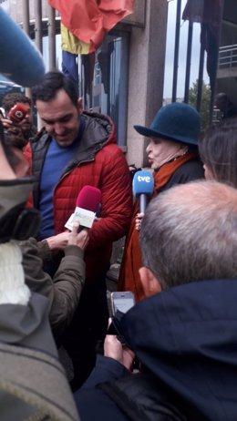 Lucía Bose tras aplazarse su juicio por el Picasso