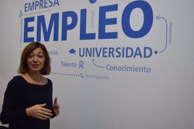 Severa González, informa sobre la evolución del empleo en la Región de Murcia