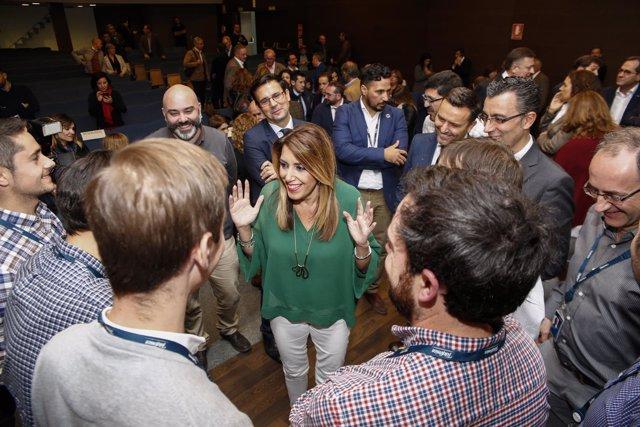 En Granada, la presidenta de la Junta de Andalucía, Susana Díaz, asiste a la pre