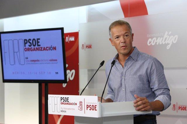 Ander Gil, en su intervención en Mérida