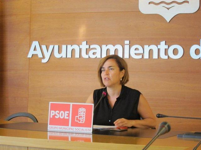 Beatriz Arraiz durante la rueda de prensa.