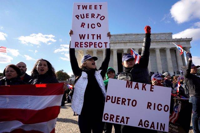 Movilización por Puerto Rico en Washington