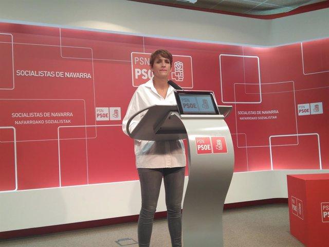 La secretaria general del PSN, María Chivite