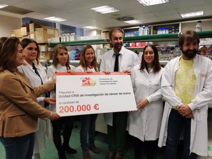 La Fundación CRIS Contra el Cáncer entrega 200.000 euros al Grupo de Investigación Clínica de Cáncer de Mama del CNIO