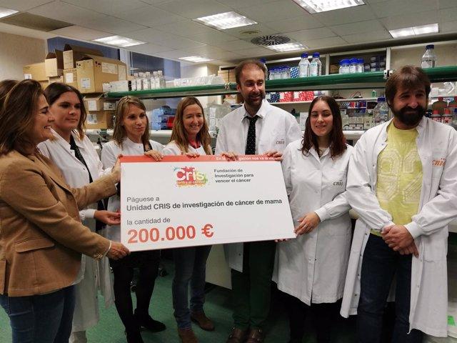 La Fundación CRIS Contra el Cáncer entrega 200.000 euros al CNIO