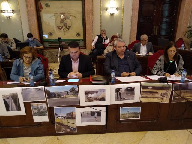 Concejales socialistas en el Pleno