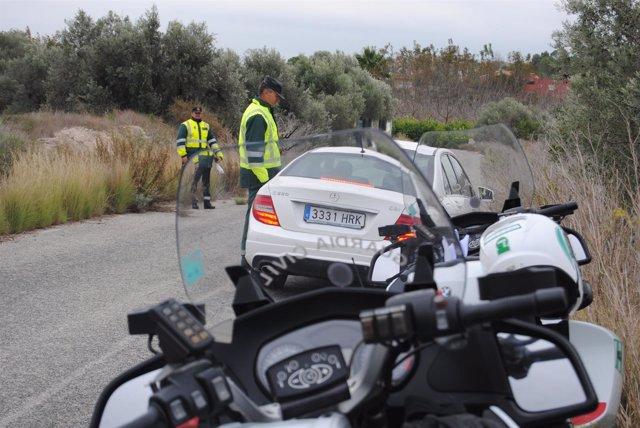 Accidente de tráfico, Guardia Civil